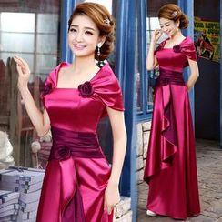 Bridal Workshop - Rosette A-Line Evening Gown