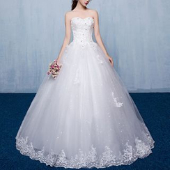 Luxury Style - Embellished Strapless Wedding Ball Gown