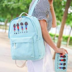 Bagolo - Printed Canvas Backpack
