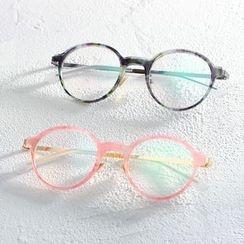 Lose Show - Colored Frame Round Glasses