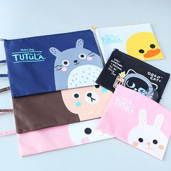 School Time - Animal Canvas Pouch
