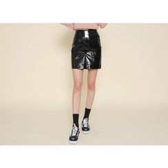 Envy Look - Patent Mini Pencil Skirt