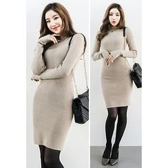 INSTYLEFIT - Crewneck Knit Bodycon Dress