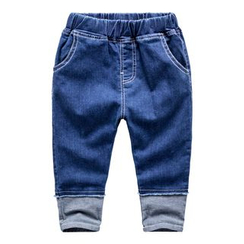 Kido - 童装拼接牛仔裤