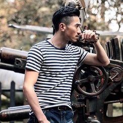 Walwa - Striped Short-Sleeve T-Shirt