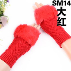 Agisnow - Fingerless Knit Gloves