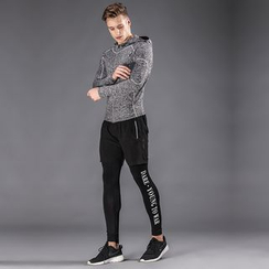 Accentum - Set: Hooded Zip Jacket + Sports Shorts + Tights