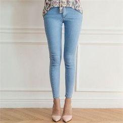 ERANZI - Washed Skinny Jeans
