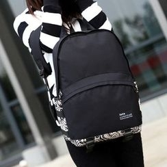 Seok - Patterned Panel Backpack