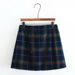 flaneur - Plaid A-Line Skirt
