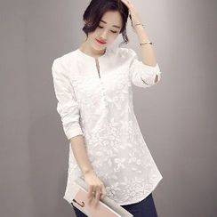 Romantica - Embroidery Long Blouse