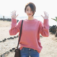 mimi&didi - Crew-Neck Drop-Shoulder Knit Top