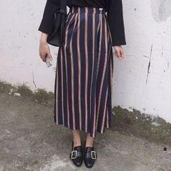 OCTALE - Striped Midi Skirt