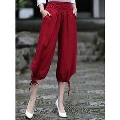 Venesia - Plain Cropped Harem Pants