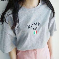 Imogen - 刺繡短袖T恤