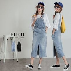 PUFII - Washed Denim Jumper Dress