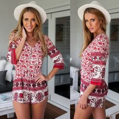 Hanni - Printed Playsuit