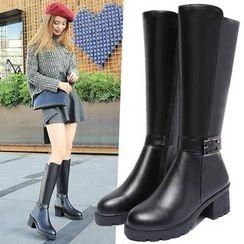 Yoflap - Block Heel Tall Boots