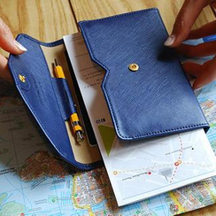 Zakka - Faux-Leather Folding Passport Case