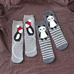 Gemini - Animal Print Socks