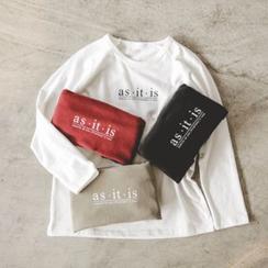 JUSTONE - Raglan-Sleeve Lettering T-Shirt