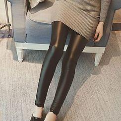 Fashion Street - Faux Leather Leggings