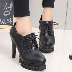 IYATO - Lace-Up Platform Pumps