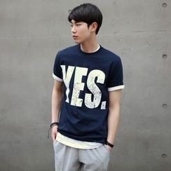 SCOU - Short-Sleeve Lettering T-Shirt