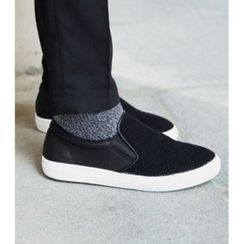 ABOKI - Knit-Panel Slip-Ons