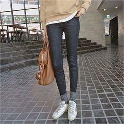 TOM & RABBIT - Brushed-Fleece Lined Skinny Jeans