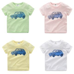 Seashells Kids - Kids Car Print Crewneck T-Shirt