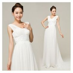 Gracia - Sleeveless Evening Gown