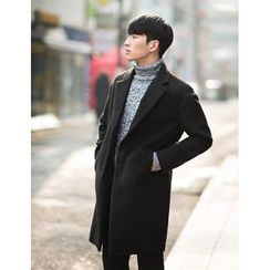 STYLEMAN - Wool-Blend Single-Breasted Coat