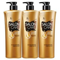 Kerasys - Salon Care Damage Ample Clinic Set: Shampoo 470ml + Shampoo 470ml + Rinse 470ml