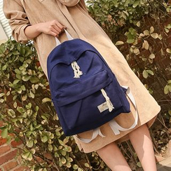 Crystal - Plain Canvas Backpack