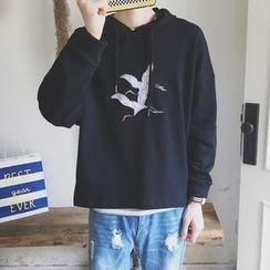子俊 - 飞鹤刺绣连帽衫