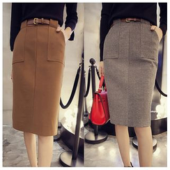 Sienne - Midi Pencil Skirt