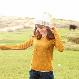 Tokyo Fashion - Pompom-Accent Sweater