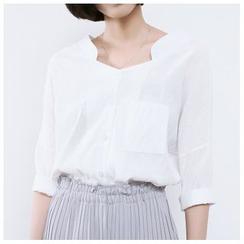 森之誠品 - 開領七分袖襯衫