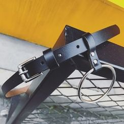 MRCYC - Genuine Leather  Belt with Hoop Accent