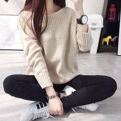 Emeline - Plain Dip Back Sweater