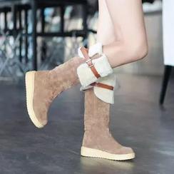 Pastel Pairs - 扣帶中筒靴