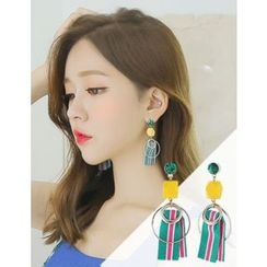 soo n soo - Mixed Dangle Earrings