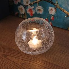 Thula Design - Glass Candle Holder with Electric Candle