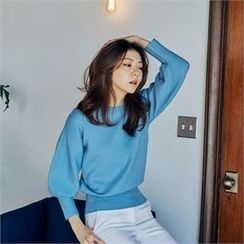 MAGJAY - Puff-Sleeve Knit Top