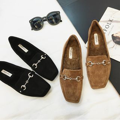 Zapatos - Faux-Suede Loafers