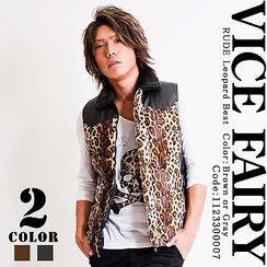 VICE FAIRY RUDE Leopard Vest