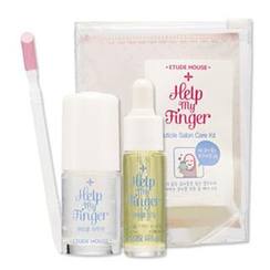 Etude House - Help My Finger Cuticle Salon Care Kit : Cuticle remover 8ml + Oil 3.5ml + Pusher 1pc