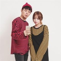 Superstar.i - Couple Striped T-Shirt