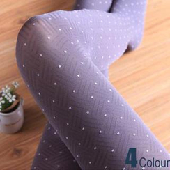 LA SHOP - Dotted Textured Tights